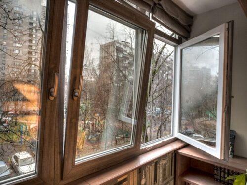 Ламинированные окна фото